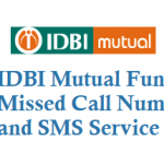 IDBI Mutual Fund Missed Call Number and SMS Service