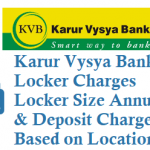 Karur Vysya Bank KVB Locker Charges Locker Size Annual & Deposit Charges and Other Details