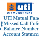 UTI Missed Call Mutual Fund Balance Details Account Statement and Other Details