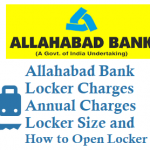 Allahabad Bank Locker Charges Deposit Annual Charges Locker Size and Other Details