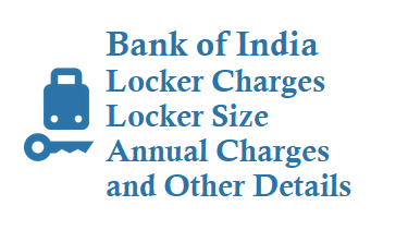 Bank of India Locker Charges Deposit Charges How to open Locker