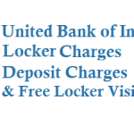 United Bank of India Locker Charges Deposit Charges and Other Details