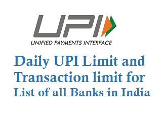 Daily UPI Limit for List of all Banks in India