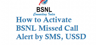 How to Activate BSNL Missed Call Alert