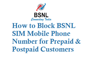 How to Block BSNL SIM Mobile Phone Number for Prepaid and Postpaid Customers