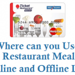Where can you Use Ticket Restaurant Meal Card Online and Offline List
