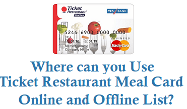 who accepts ticket restaurant meal card accepted outlets and online websites