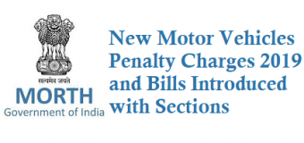 New Motor Vehicles Penalty Charges – Amendment Bill 2019
