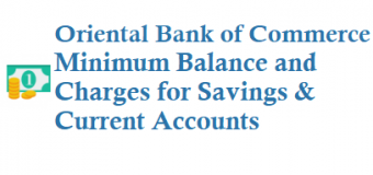 Oriental Bank of Commerce Minimum Balance and Charges