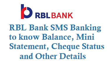 RBL Bank SMS Banking to know Balance Mini Statement Cheque Status by sms