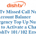 DishTv Missed Call Number for Account Balance Emergency Top Up Number and How to Activate a Channel