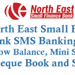 North East Small Finance Bank SMS Banking to Know Balance Mini Statement Cheque Status and Other Details