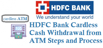 HDFC Bank Cardless Cash Withdrawal from ATM
