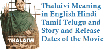 Thalaivi Meaning in English Hindi Tamil Telugu and Other details