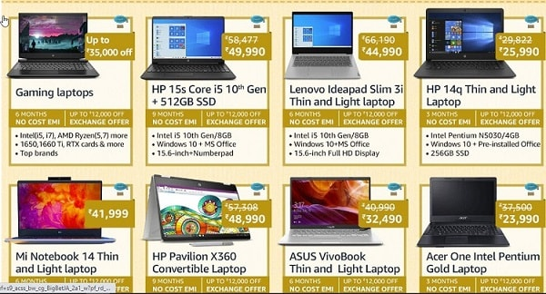 best amazon prime day deals on laptops
