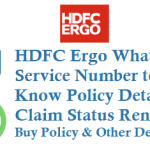 HDFC Ergo Whatsapp Service Number to Know Policy Details Claim Status Renew Buy Policy and Other Details
