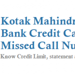 Kotak Mahindra Bank Credit Card Missed Call Number Service
