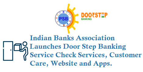Doorstep Banking dbs Banks Services Customer Care Toll free number 18001213721 18001037188