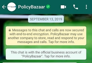 PolicyBazaar Whatsapp Chat support features and activation