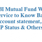 SBI Mutual Fund WhatsApp Service to Know Balance, Account statement, NAV, SIP Status and Others Details