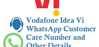 Vodafone Idea Vi WhatsApp Customer Care Number and Other Details