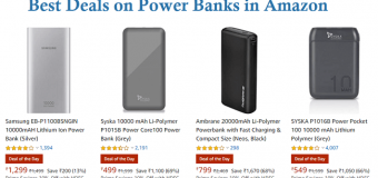 Best Deals on Power Banks in Amazon