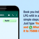 Now Book or Refill Your Indane Gas by WhatsApp Chat