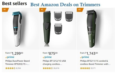 Best Amazon Deals on Trimmers