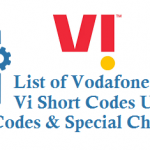 List of Vodafone Idea Vi Short Codes USSD Codes and Special Characters