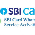 SBI Credit Card WhatsApp Service Activation