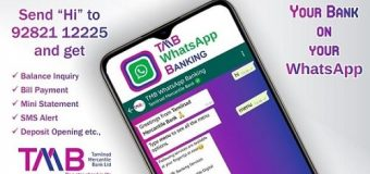 Tamilnad Mercantile Bank LTD TMB WhatsApp Banking Service Details and Activation
