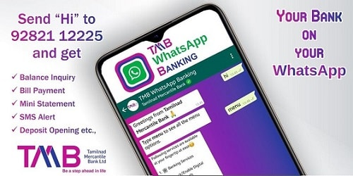 TMB WhatsApp Banking Service Details and Activation 09282112225