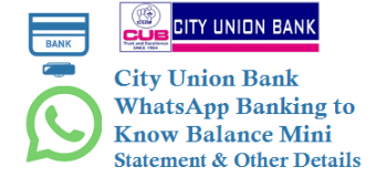 City Union Bank WhatsApp Banking to Know Balance Mini Statement and Other Details