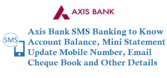 Axis Bank SMS Banking to Know Account Balance Mini Statement and more details