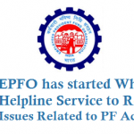 EPFO has started WhatsApp Helpline Service to Resolve Issues Related to PF Accounts