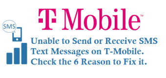 Unable to Send or Receive SMS on T-Mobile
